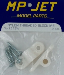 Schroefblok M6 Nylon (2) MPJ-2613W