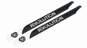 600mm FBL 3D Carbon Main Blades by Revolution -RVOB060050