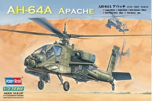 AH-64A Apache Attack Helicopter 1:72