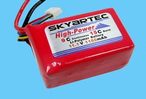 Battery LIPO 11.1v 1100mAh CE-014 / LP001