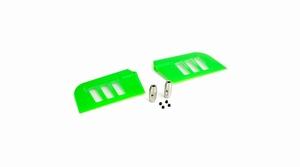 Flybar Paddle Set, Green: B500 3D