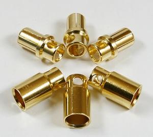 Goudplug 8.0mm (1x male + 1x Female)