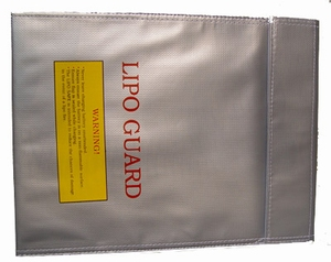 LIPO-SAFE Storage Charge Bag (Silver) 18x22cm