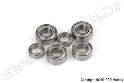 Kogellager, Metalen dichting, 3X7X3 - MR73ZZ - 2 st.