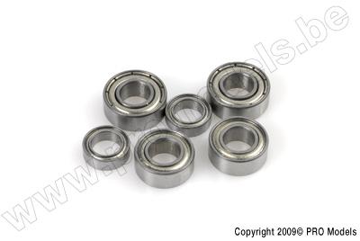 Kogellager, Metalen dichting, 4X13X5 - MR624ZZ - 2 st.