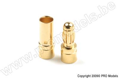 3.5mm goudstekker, Man. + Vrouw. (4paar)