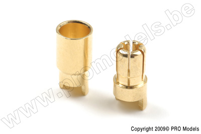 6.0mm goudstekker, Man. + Vrouw. (4paar)
