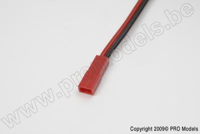 BEC stekker, Vrouw., silicone kabel 20AWG, 10cm (1st)