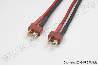 Conversie kabel Deans Vrouw. > Deans Man., silicone kabel 14