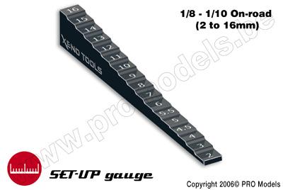 Meetlat voor chassis hoogte (0-15mm)