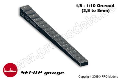 Meetlat voor chassis hoogte (3.8 - 8.0mm)