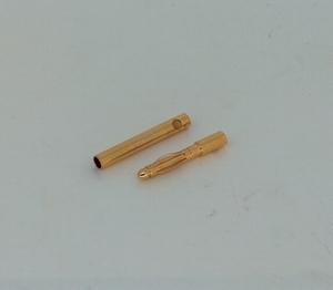 Goudplug 2.0mm lang (1x male + 1x Female)
