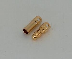 Goudplug 3.5mm (1x male + 1x Female)