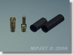 Goudplug MP-Jet 3.5mm voor 2.5mm kabel (3 Sets)
