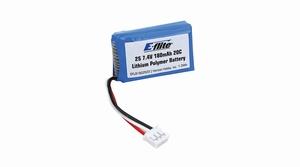 E-flite 180mAh 2S 7.4V 20C Li-Po, 26AWG - EFLB1802S20