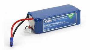 E-flite 4000mAh 6S 22.2V 30C LiPo, 12AWG EC3 - EFLB40006S30