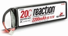 Dynamite Reaction 11.1V 2200mAh 3S 20C LiPo 13AWG, EC3