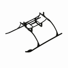 Landing Skid and Battery Mount Set: BMCX - EFLH2222