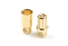 8.0mm goudstekker, Man. + Vrouw. (4paar)