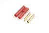 4.0mm goudstekker met plastiek behuizing (4pcs)
