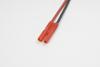 2.0mm goudstekker, Man., silicone kabel 20AWG, 10cm (1st)