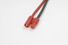 3.5mm goudstekker, Man., silicone kabel 14AWG, 10cm (1st)