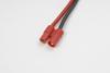 3.5mm goudstekker, Vrouw., silicone kabel 14AWG, 10cm (1st)
