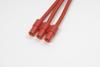 3.5mm goudstekker (3pins), Man., silicone kabel 14AWG, 10cm