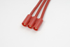 3.5mm goudstekker (3pins), Vrouw., silicone kabel 14AWG, 10c