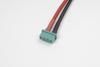 MPX goudstekker, Man., silicone kabel 14AWG, 10cm (1st)