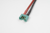 MPX goudstekker, Vrouw., silicone kabel 14AWG, 10cm (1st)