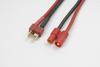 Conversie kabel Deans Vrouw. > 3.5mm goudstekker, silicone k