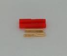 2.0mm goudstekker met plastiek behuizing (1pcs)