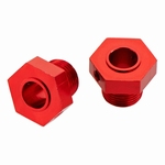 Arrma - Aluminum Wheel Hex Red (2) - AR330359